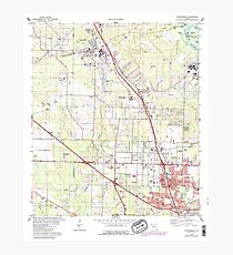 USGS TOPO Map Florida FL Cantonment 345387 1978 24000 Photographic Print