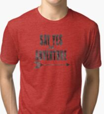 Say Yes to Adventure - Charcoal Tri-blend T-Shirt