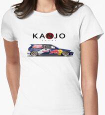 honda civic ef hatchback kanjo style Womens Fitted T-Shirt