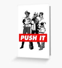 push it Greeting Card