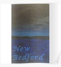 New Bedford Beach at Night Poster