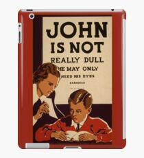 Vintage Eye Exam Poster iPad Case/Skin