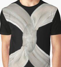 Infinity - White Ribbon on Black  Graphic T-Shirt
