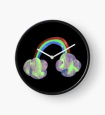 rainbow cloud Clock