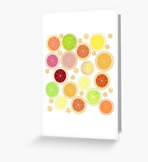 Summer Citrus Greeting Card