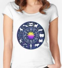 Astrological Signs Women's Fitted Scoop T-Shirt