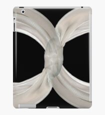 Infinity - White Ribbon on Black  iPad Case/Skin