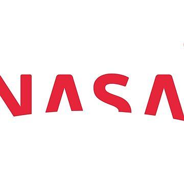 Nuevo logotipo de la NASA 2018 (rojo) de Doge21