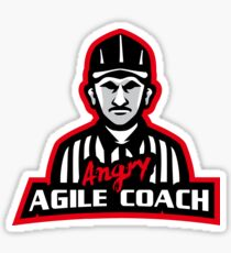 Angry Agile Coach - Referee  Sticker