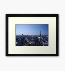 Morning in Paris overlooking the Eiffel Tower Framed Print