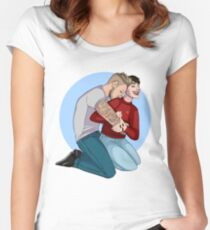 Shoulder Kisses Women's Fitted Scoop T-Shirt
