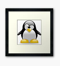 tux penguin  Framed Print