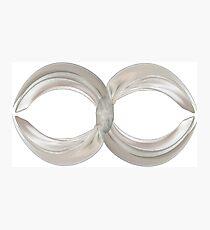 Infinity - White Ribbon on Navy Photographic Print