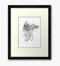 Suicune in pencil Framed Print