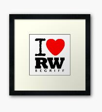I LOVE RWB Framed Print