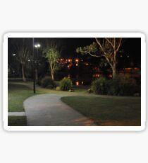 Caboolture lakeside park at night Sticker