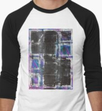 The Grid by Margo Humphries Men's Baseball ¾ T-Shirt