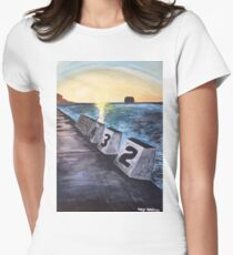"""Merewether Baths"" by Margo Humphries Womens Fitted T-Shirt"