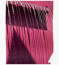 Cool water feature on hot pink Poster