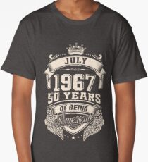 Born In July 1967 50 Years of Being Awesome Long T-Shirt
