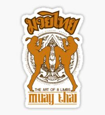 Muay Thai Shadow 2 Twin Fighter -Thailand Martial Art - color Sticker