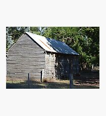 Shed in Biawatha - rural Victoria Photographic Print
