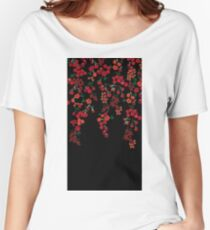 Falling Flowers Women's Relaxed Fit T-Shirt
