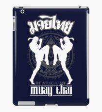 Muay Thai Shadow 2 Twin Fighter -Thailand Martial Art - White and Grey iPad Case/Skin