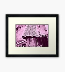 Woman Moving On Framed Print