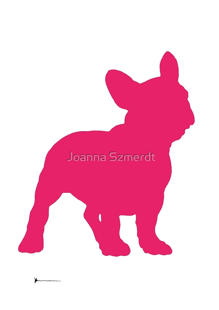 French bulldog silhouette home decor by Joanna Szmerdt