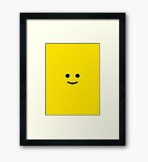 Lego Head Framed Print