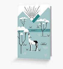 Okapi Landscape Greeting Card