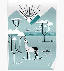 Okapi Landscape Poster