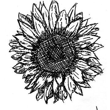 Sunflower Sketch by JuliaDream