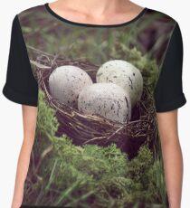 Mossy Nest Chiffon Top