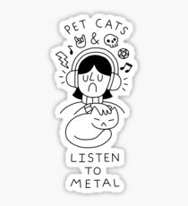 Pet Cats & Listen To Metal Sticker