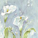 Arum Lilien (und Glühwürmchen) in der Nacht von Maree Clarkson