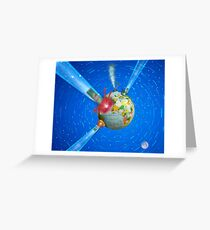Comet impacts Earth Greeting Card