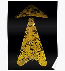 Yellow Arrow Road Paint Poster