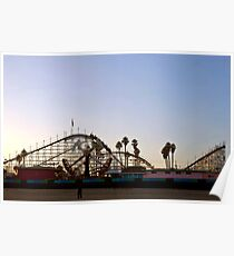 Big Dipper, Santa Cruz Beach Boardwalk, California Poster