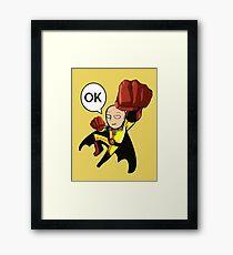 saitama one punch man Framed Print