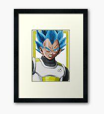 Vegeta God Super Saiyan Framed Print