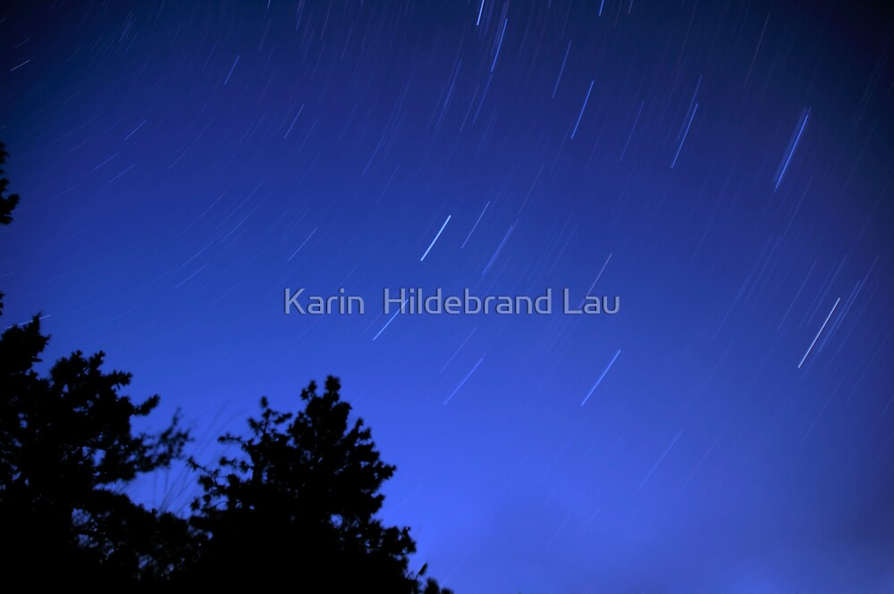 Star Trails by Karin  Hildebrand Lau