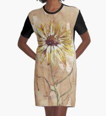 Helianthus (sunflower) Graphic T-Shirt Dress