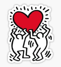 Keith Haring Dancing Heart Sticker