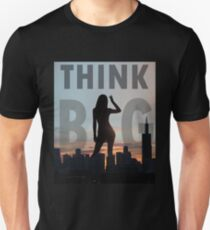 Think Big Giant Silhouette Unisex T-Shirt