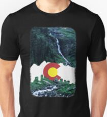Colorado Creek and Flag Unisex T-Shirt