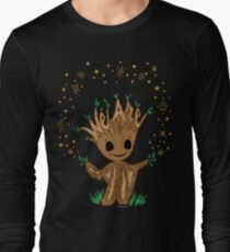We Are Groot Hand Lettered Illustration Design Long Sleeve T-Shirt