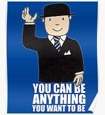 MR BENN KIDS CHILDRENS CULT TV 70'S 80'S RETRO CARTOON BBC SLOGAN FUNNY Poster
