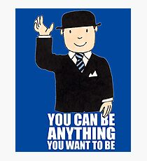 MR BENN KIDS CHILDRENS CULT TV 70'S 80'S RETRO CARTOON BBC SLOGAN FUNNY Photographic Print